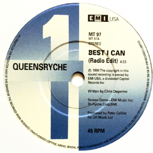 "Queensryche - Best I Can (7"") (EX+/NM)"